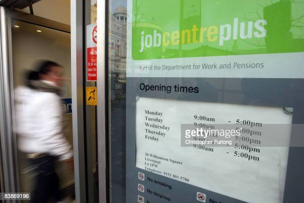 In this photo illustration a job seeker uses an interactive computer to search for employment opportunities at a job centre on December 1 2008 in...