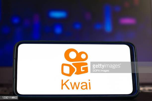 In this photo illustration a Kuaishou logo seen displayed on a smartphone.