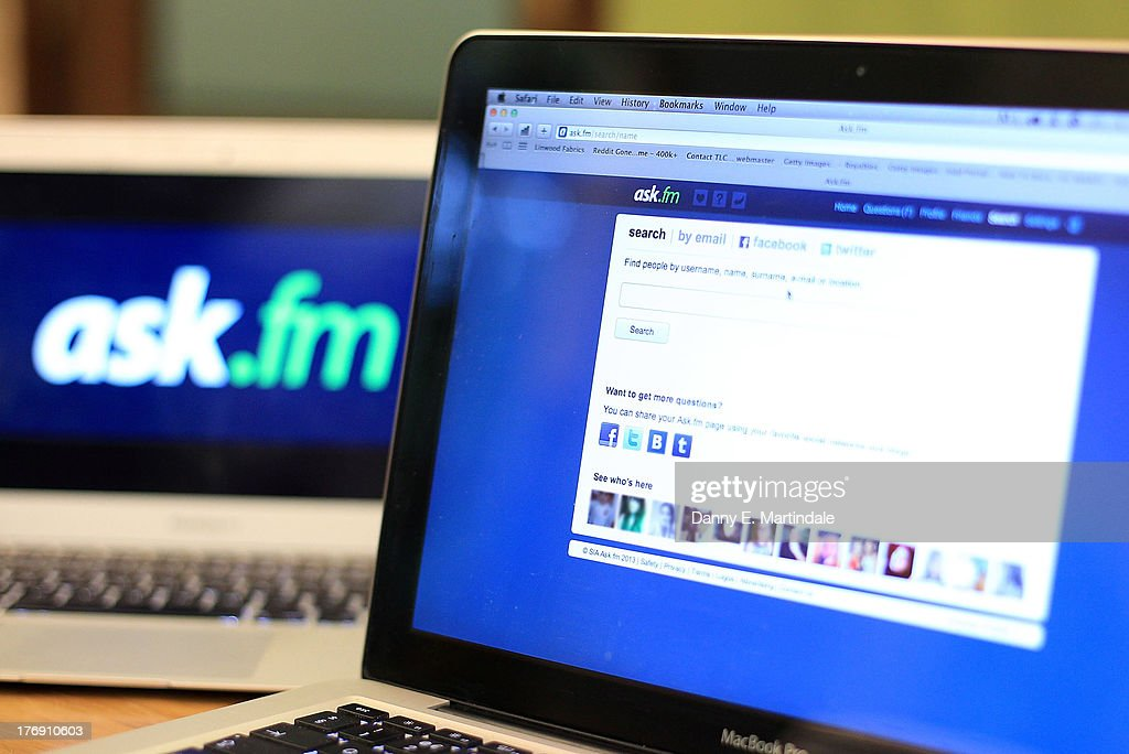 In this photo illustration a laptop computer shows the Ask.FM website, on August 19, 2013 in London, England. The site has been criticised by the British PM David Cameron who urged parents to boycott 'vile sites'. The Ask.FM wedsite has been linked to two bullying cases where the young person has taken there own life.