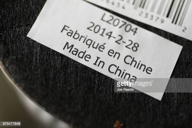 In this photo illustration a Made in China tag is seen on an device on the day President Donald Trump announced tariffs on $50 billion of Chinese...