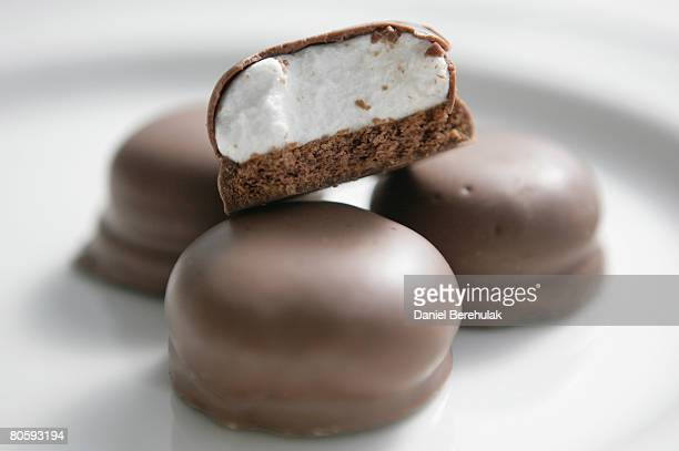 In this photo illustration a Marks and Spencer teacake is pictured on April 10 2008 in London England Customers have been paying VAT for 20 years on...