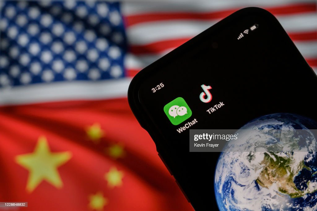 China's WeChat And TikTok Face Trump Bans In The U.S : News Photo