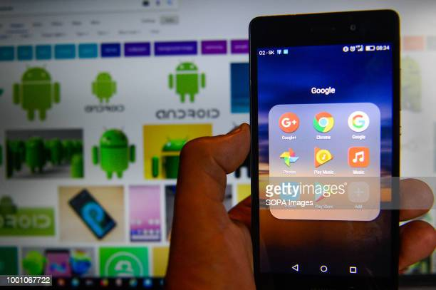 A mobile with Android operative system showing google app