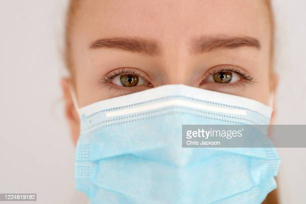In this photo illustration a model poses in a protective face mask on May 14, 2020 in London, England . The prime minister announced the general...