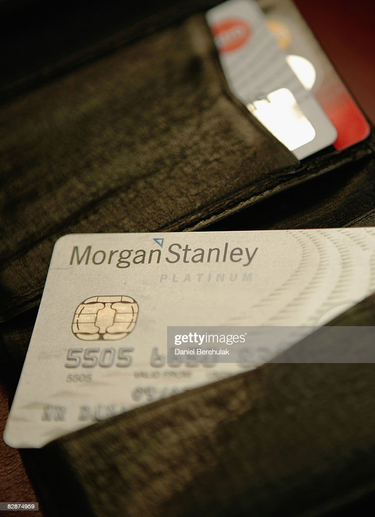 In this photo illustration a Morgan Stanley credit card is pictured