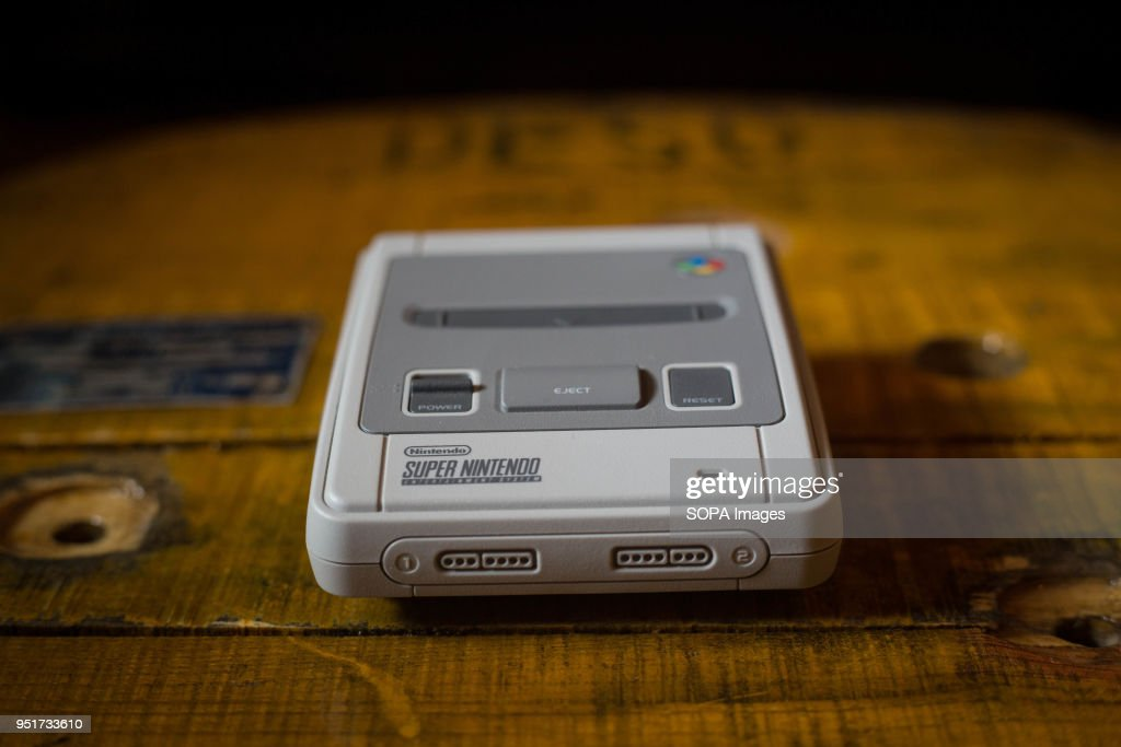 A nintendo classic mini 39 super nintendo 39 video game console the news photo getty images - Super nintendo classic game console ...