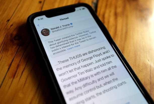 CA: Twitter Flags Two Of President's Trump Tweets
