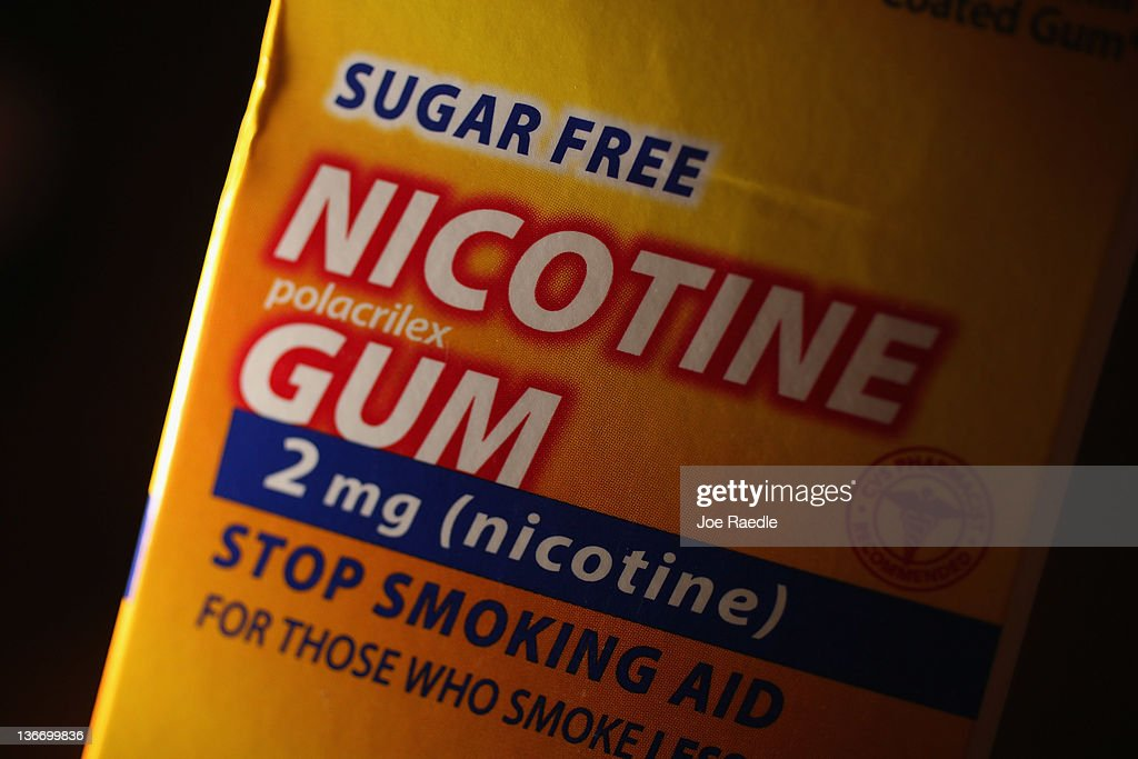 In this photo illustration a package of Nicotine Gum, which is advertised as helping people stop smoking cigarettes, is seen on January 10, 2012 in Miami, Florida. A study published in the journal Tobacco Control on Monday, reported that the nicotine alternatives, like Nicotine Gum, have no lasting effect on people trying to quit their smoking habit.