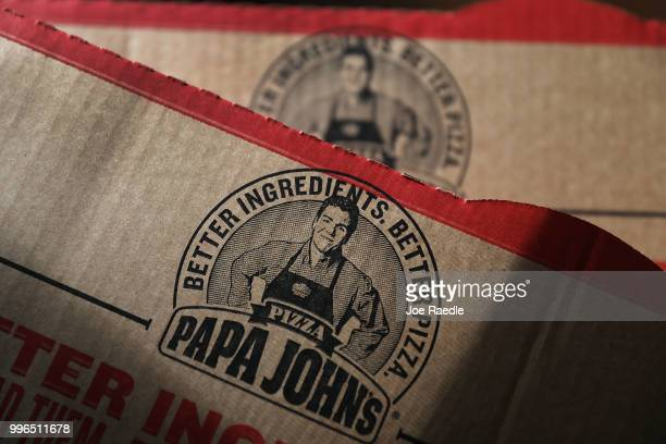 In this photo illustration a Papa John's pizza box is seen on July 11 2018 in Miami Florida The founder of Papa John's pizza John Schnatter...