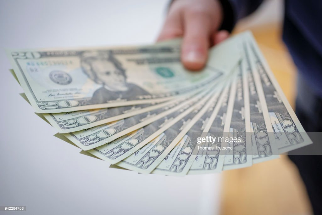 Dollar Bills : News Photo