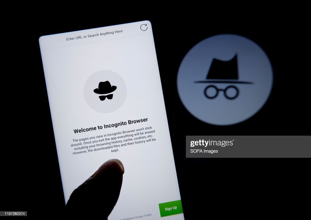 In this photo illustration a Private browsing application... : News Photo