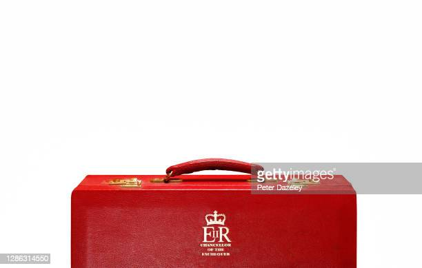 In this photo illustration, a replica of the Chancellor of the Exchequers case budget box shot in December 2011 in London, England.