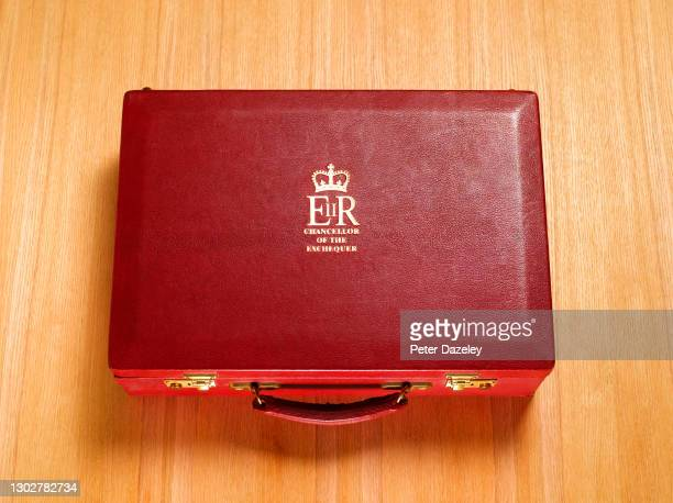 In this photo illustration, a replica of the Chancellor of the Exchequers case budget box shot on December 2011 in London, England.