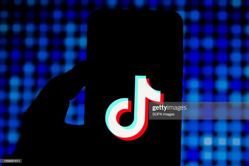 In this photo illustration a TikTok (Douyin) logo seen... : News Photo