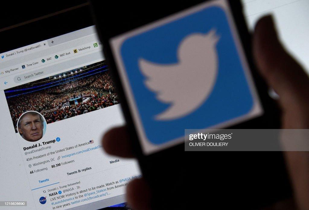 US-POLITICS-TRUMP]-TWITTER : News Photo