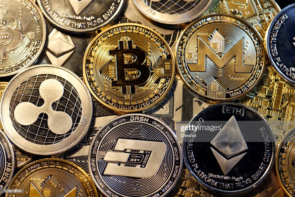 Cryptocurrency : Illustration : News Photo