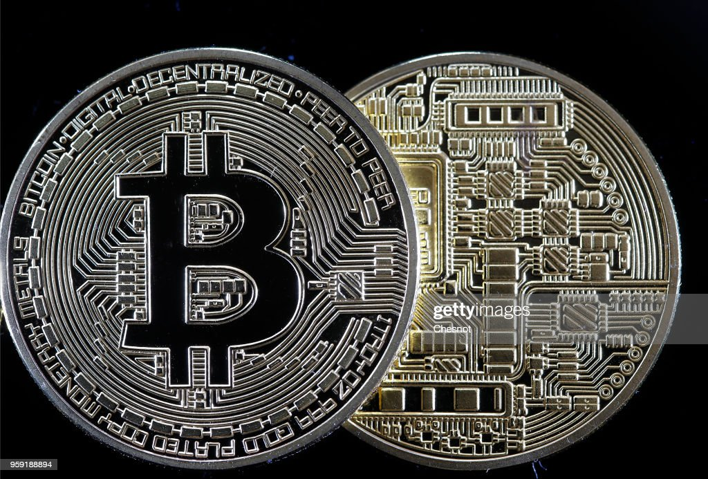 Digital Cryptocurrency Bitcoin : Illustration : News Photo