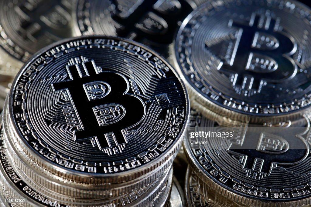 Bitcoin Virtual Currency : Illustration : News Photo