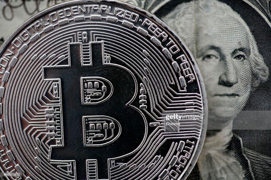 Bitcoin : Illustration In Paris : News Photo