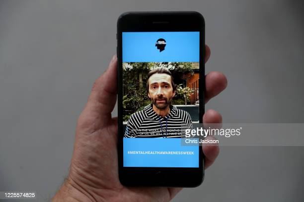 In this photo illustration actor David Tennant takes part in a Heads together Mental Health broadcast on May 18 2020 in London England The Duke and...