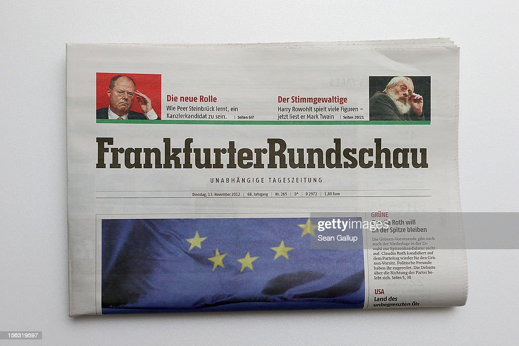 In this photo illustration an issue of the Frankfurter Rundschau newspaper is seen on November 13, 2012 in Berlin, Germany. According to media reports the paper has filed for bankruptcy, and the future of its partner paper, Berliner Zeitung, is uncertain.