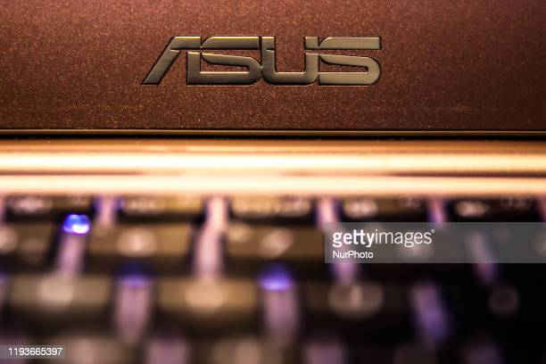 In this photo illustration ASUS logo is seen on the computer in this illustration photo taken in Krakow Poland on January 11 2020