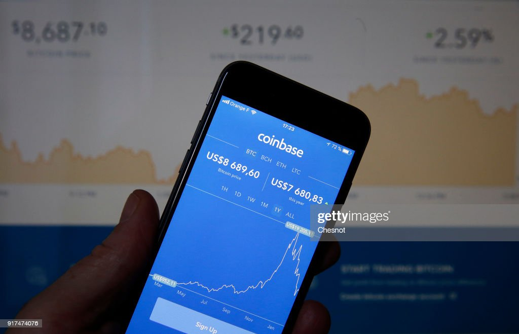 Coinbase Cryptocurrency Exchange Website : Illustration : News Photo