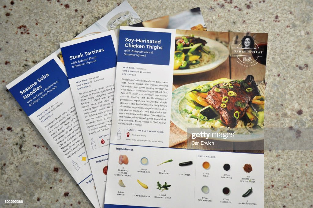 Meal delivery service blue apron to go public on nyse photos and in this photo illustration blue apron meal kit delivery package recipes are displayed on forumfinder