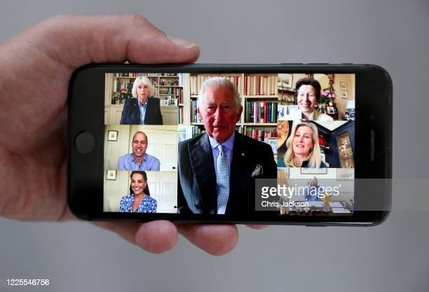 In this photo illustration Camilla, Duchess of Cornwall, Prince Charles, Prince of Wales, Prince William, Duke of Cambridge, Catherine, Duchess of...