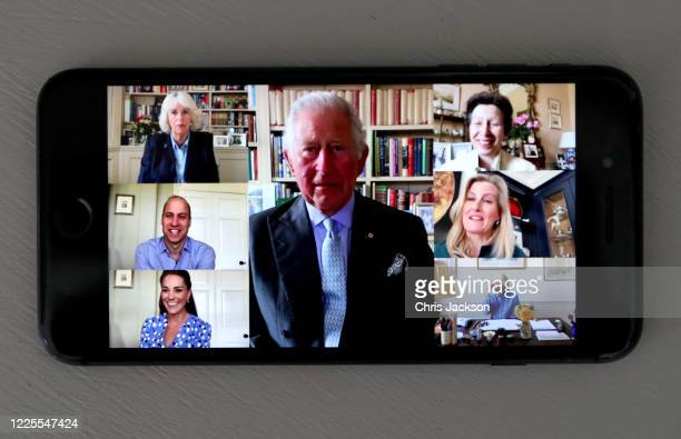 In this photo illustration Camilla Duchess of Cornwall Prince Charles Prince of Wales Prince William Duke of Cambridge Catherine Duchess of Cambridge...