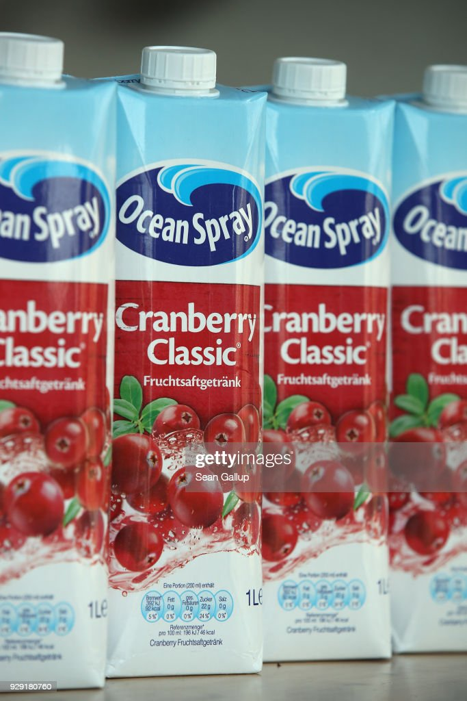 In this photo illustration cartons of American brand Ocean Spray cranberry juice stand arranged on March 8, 2018 in Berlin, Germany. U.S. President Donald Trump has promised to authorize tariffs on imported steel and aluminum today and the European Commission has vowed to retaliate with tariffs on Levi's jeans, Kentucky bourbon and Harley-Davidson motorcycles, as well as cranberries, kidney beans, bed linens and lipstick. Many analysts fear the tariffs could escalate and hence cost jobs on both sides of the Atlantic. The European Union and Canada are the world's biggest exporters of steel to the United States.