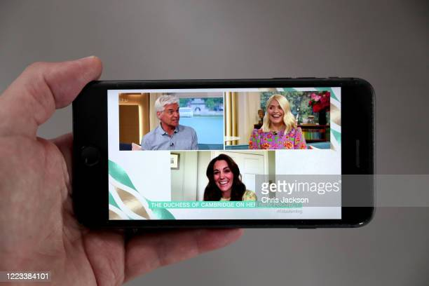 In this photo illustration Catherine, Duchess of Cambridge is being interviewed by ITV's This Morning about the launch of Hold Still on May 07, 2020...