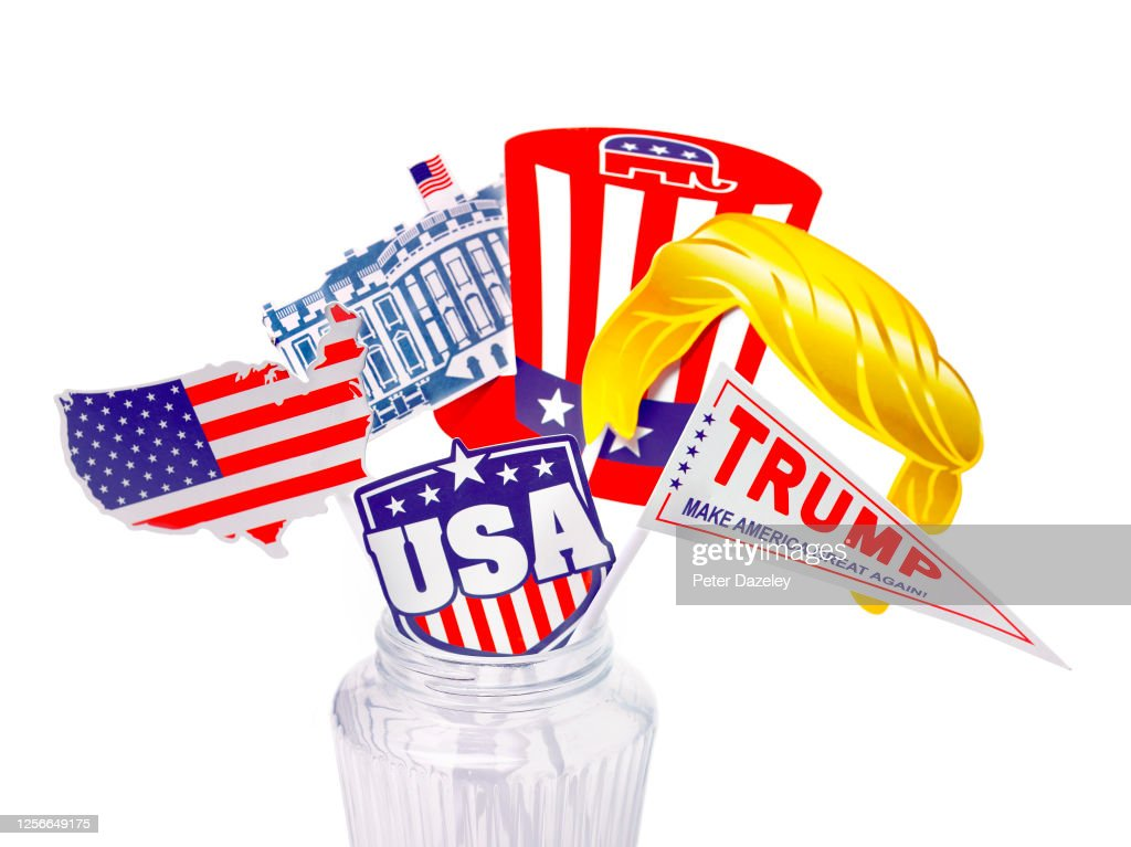 President Donald Trump Election Campaign Material : News Photo