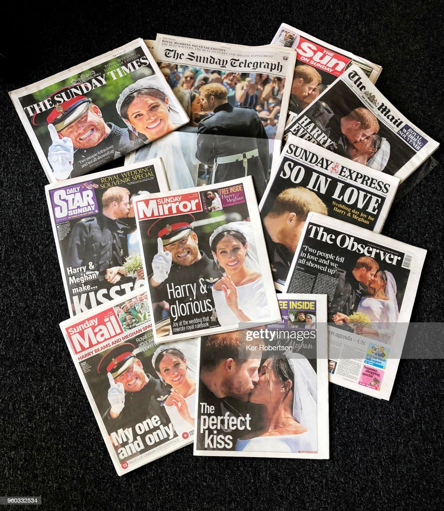 Royal Wedding Headlines in United Kingdom Newspapers