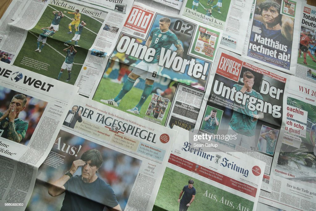 Germany World Cup Ouster Dominates Local Front Pages : Nachrichtenfoto