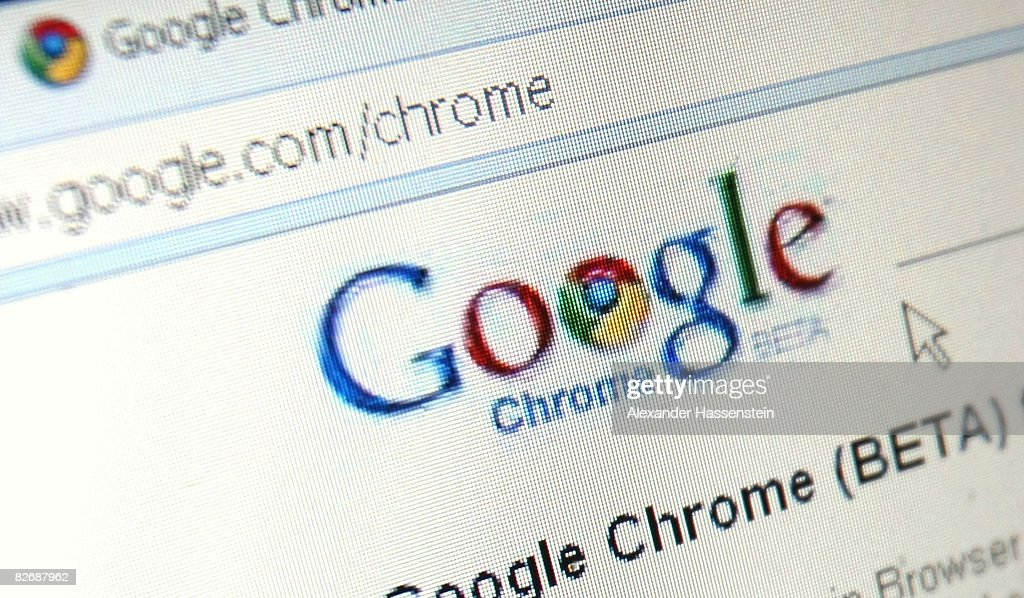 In this photo illustration Google's Chrome, Google Inc.'s new Web browser is displayed on an laptop.