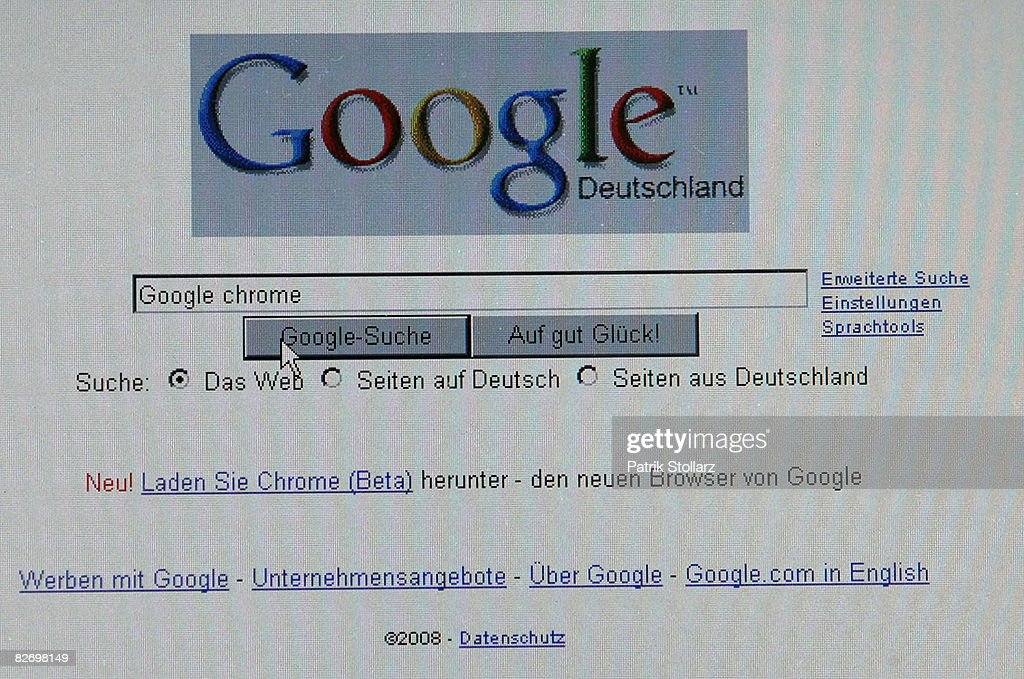 In this photo illustration, Google's new Internet Browser 'Chrome' is seen on a laptop screen on September 7 in Berlin, Germany. Google launched the new webbrowser in the year of the 10th anniversary of Internet search machine Google.