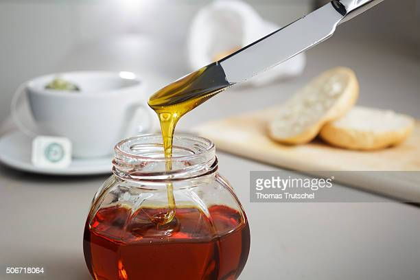 In this photo illustration honey is on a breakfast table on January 25 2016 in Berlin Germany
