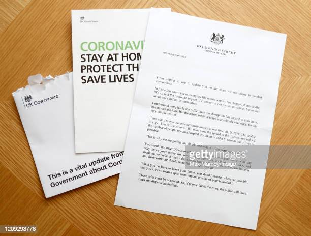 In this photo illustration is a letter received by the photographer from Prime Minister Boris Johnson reiterating the Government's advice regarding...