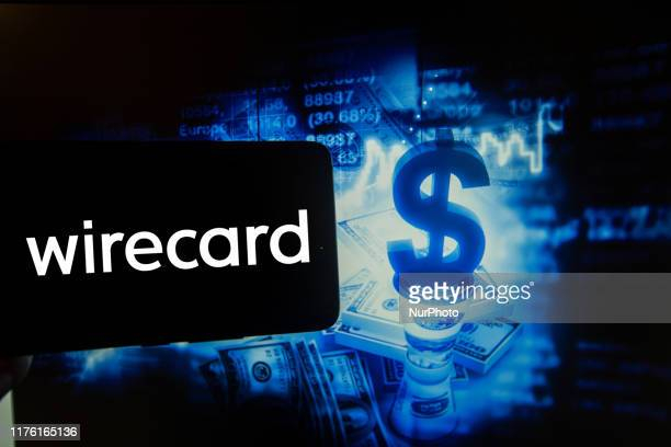 In this photo illustration is show the logo of german Fintech company Wirecard