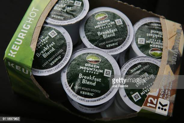 In this photo illustration, Keurig Green Mountain coffee is seen on the day it was announced it has struck a deal worth more than $21 billion with Dr...