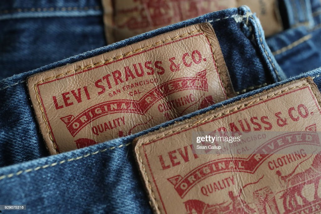 In this photo illustration Levi's 501 blue jeans by U.S. clothing manufacturer Levi Strauss are seen on March 8, 2018 in Berlin, Germany. U.S. President Donald Trump has promised to sign into law tariffs on imported steel and aluminum today and the European Commission has vowed to retaliate with tariffs on Levi's jeans, Kentucky bourbon and Harley-Davidson motorcycles. Many analysts fear the tariffs could escalate and hence cost jobs on both sides of the Atlantic. The European Union and Canada are the world's biggest exporters of steel to the United States.
