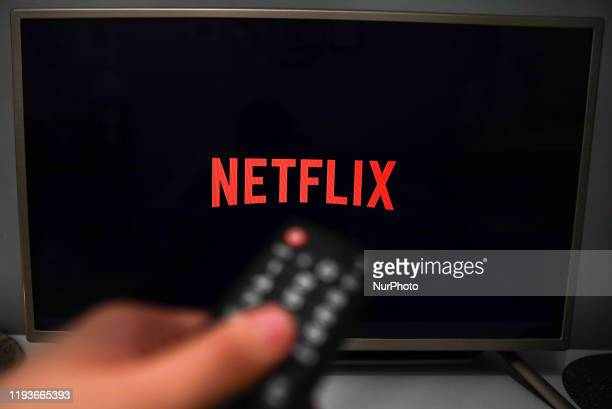 In this photo illustration, Netflix logo is seen displayed on TV screen in this illustration photo taken in Krakow, Poland on January 11, 2020.