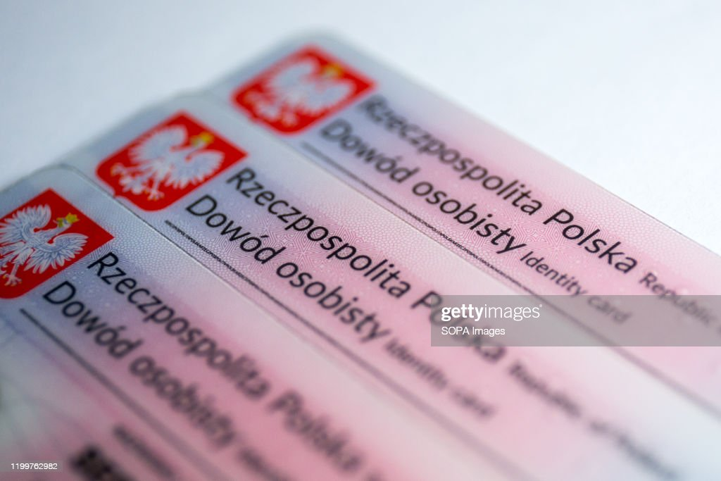In this photo illustration Polish ID cards are seen... : News Photo