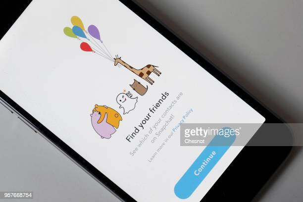 In this photo illustration Snapchat application is displayed on the screen of an Apple iPhone on May 12 2018 in Paris France Faced with the anger of...