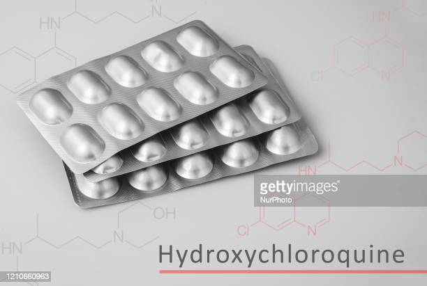 In this photo illustration tablets of Plaquenil are displayed on April 22 2020 in Assam India Hydroxychloroquine is being suggested as a potential...