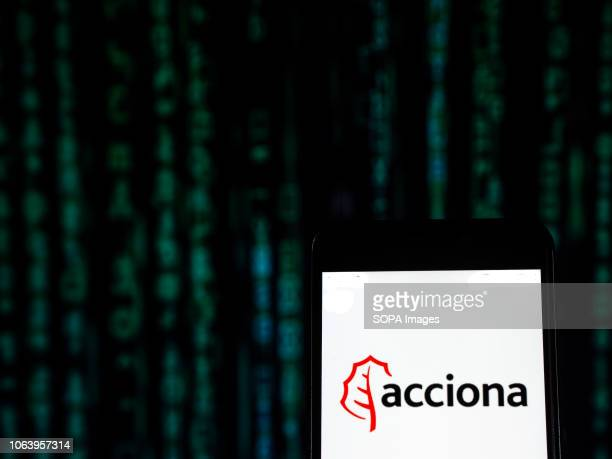 Acciona Infrastructure company logo seen displayed on a smart phone Acciona SA is a Spanish conglomerate group dedicated to the development and...