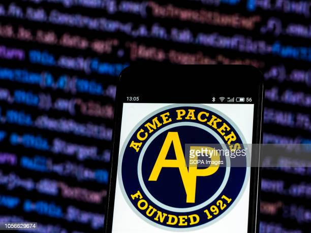 Acme Packers now Green Bay Packers are a professional American football team based in Green Bay Wisconsin logo seen displayed on smart phone