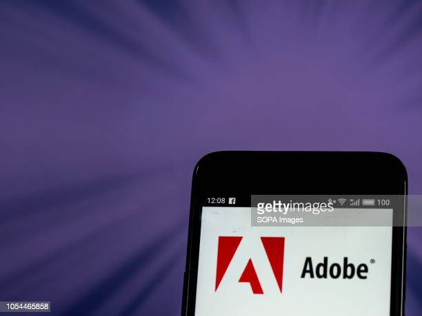 Adobe Inc logo seen displayed on smart phone Adobe Inc is an American multinational computer software company