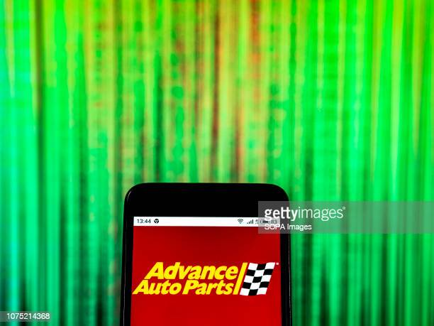 In this photo illustration the Advance Auto Parts Retail company logo seen displayed on a smartphone